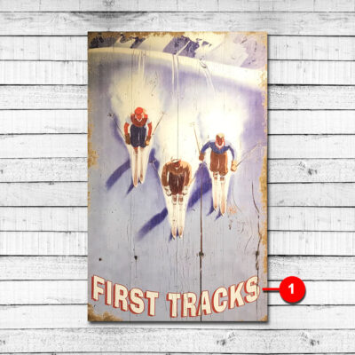 Vintage Skiing Sign