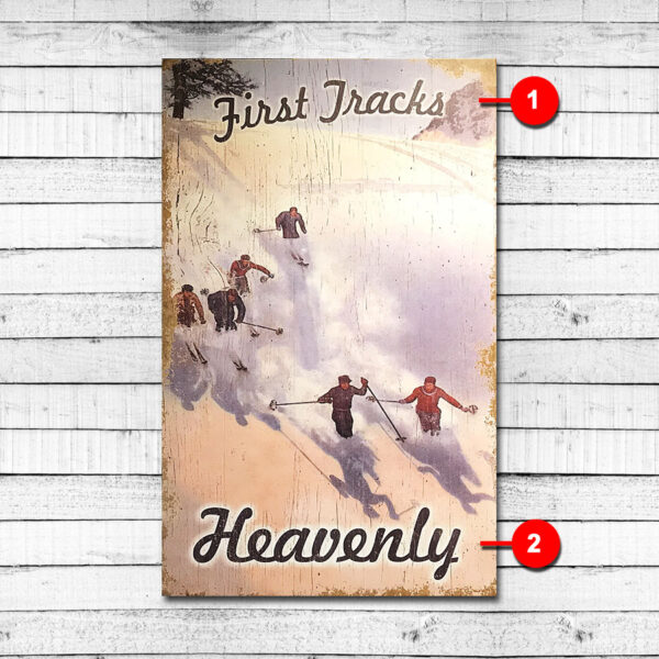 Heavenly Mountain - Vintage Ski Sign