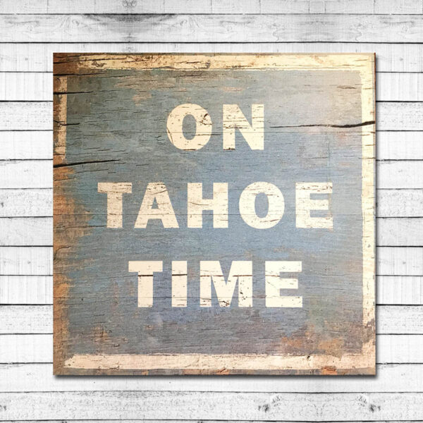Vintage Lake Tahoe Sign