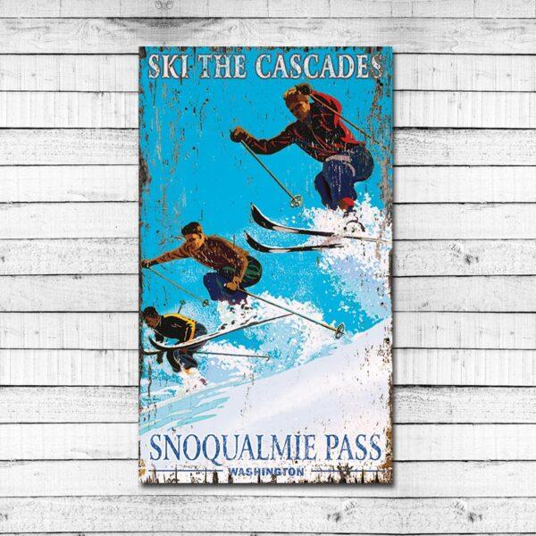 Vintage Skiing Sign