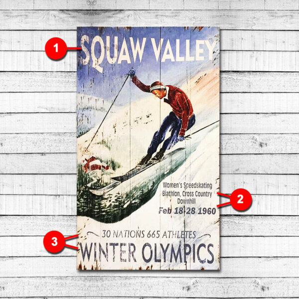 Squaw Valley Olympics Vintage Sign