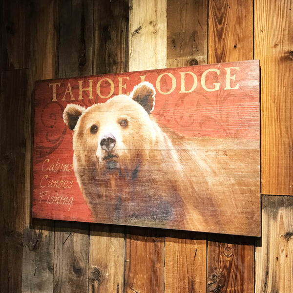 Vintage Signs with Bears