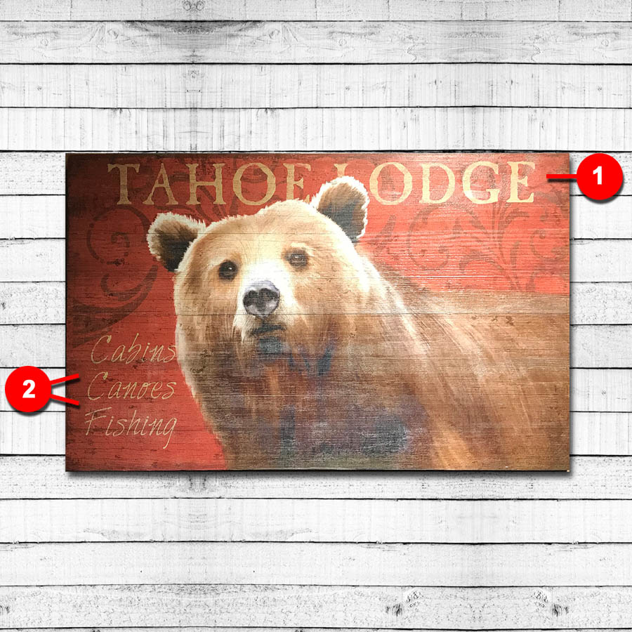 Tahoe Lodge Personalized Vintage Sign