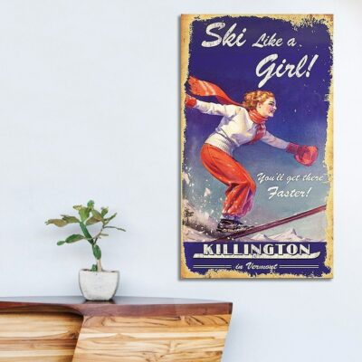 Killington sign, Killington ski poster