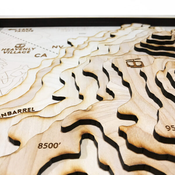 Wood carved map of Heavenly Mountain
