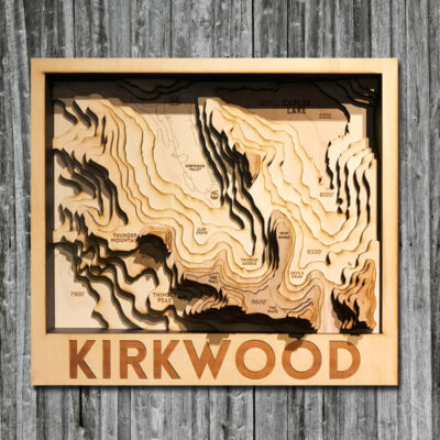 3D Wood Map of Kirkwood Ski Resort