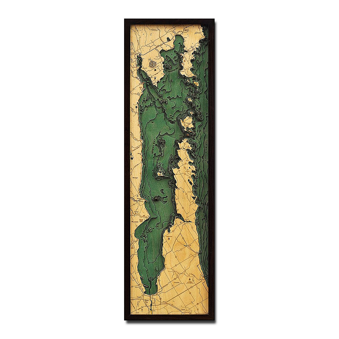 Green Bay / Door County Peninsula 3D Wood Map