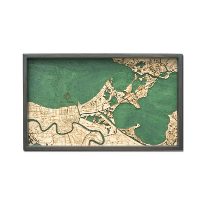 New Orleans Nautical Wood Serving Tray