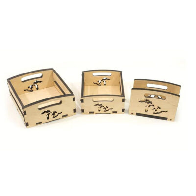 great lakes engraved nested wood boxes