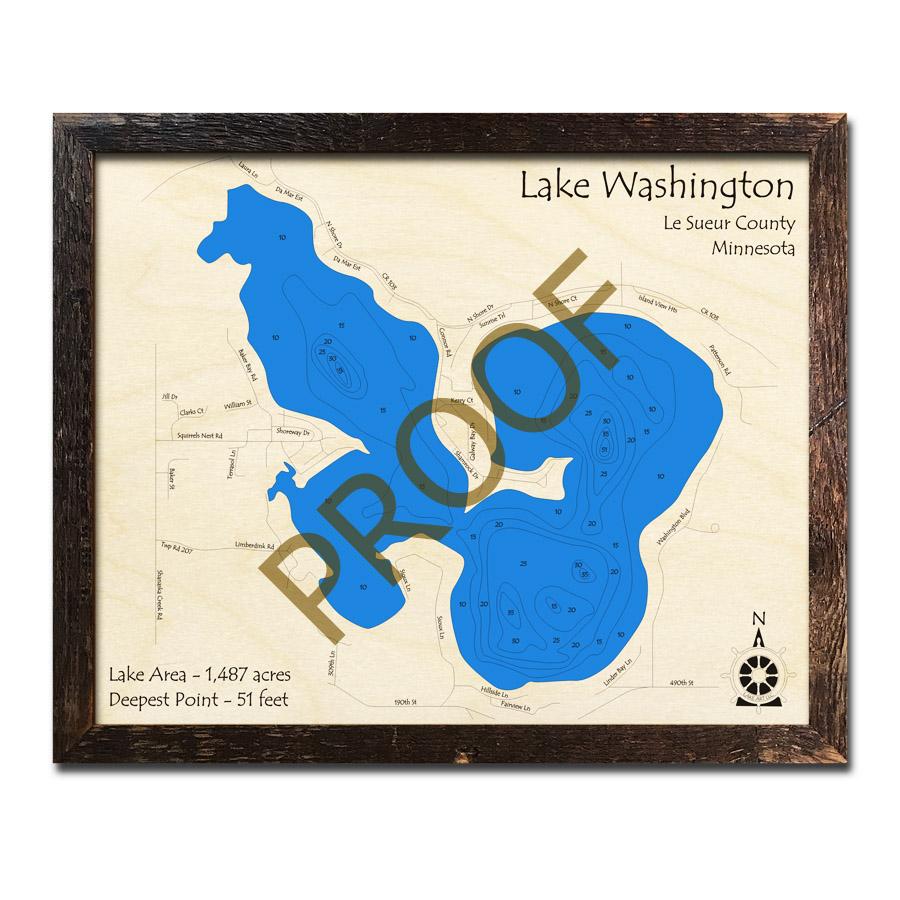 Lake Vermillion Minnesota Map.The Minnesota Wood Map Collection 3d Topograghic Lake Charts