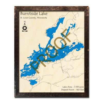Burntside Lake Wood Map