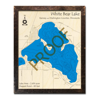 White Bear Lake Wood Maps
