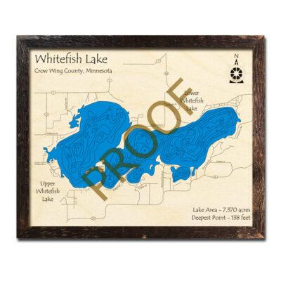 Whitefish Lake Wood Map