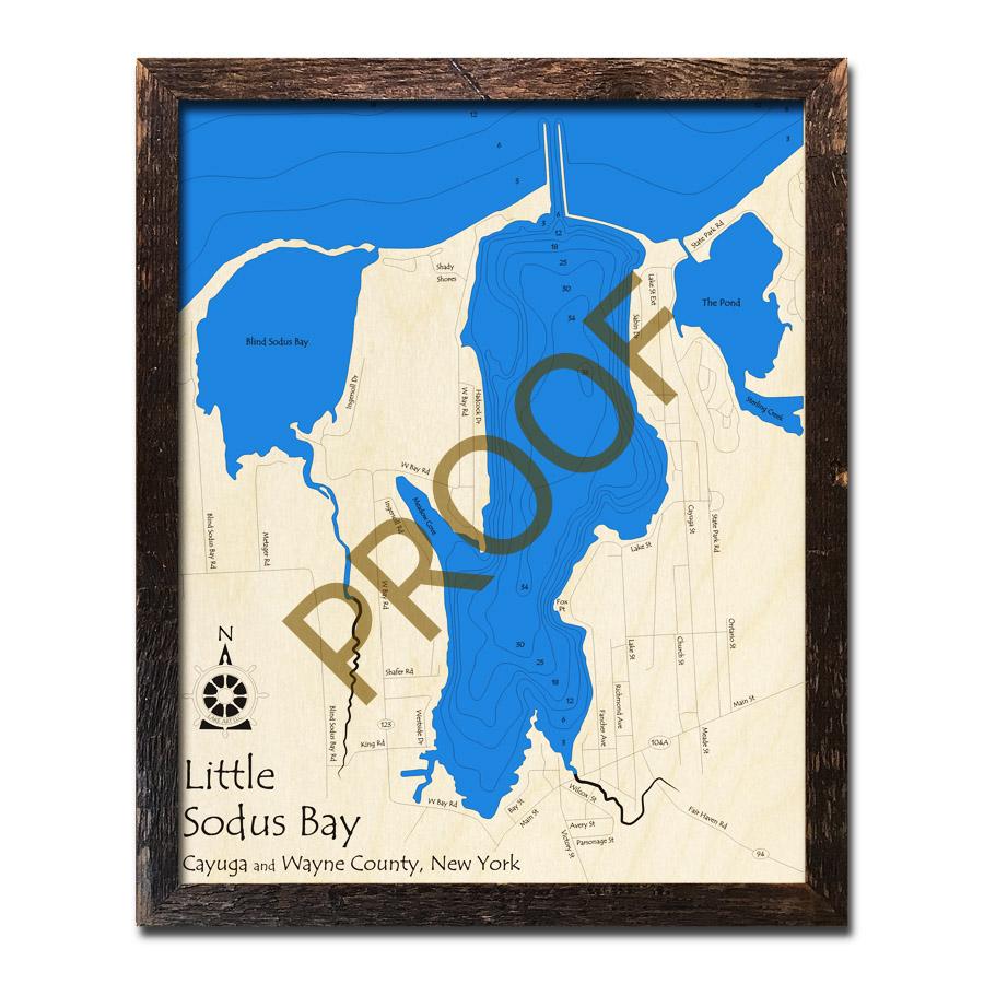 Little Sodus Bay, NY 3D Wood Topo Map on palmyra ny map, baldwinsville ny map, naples ny map, niagara falls ny map, lake champlain ny map, newark ny map, poughkeepsie ny map, webster ny map, wayne county ny map, lockport ny map, southampton ny map, elmira ny map, waterloo ny map, rye ny map, auburn ny map, bedford ny map, clermont ny map, lake erie ny map, utica ny map, clayton ny map,