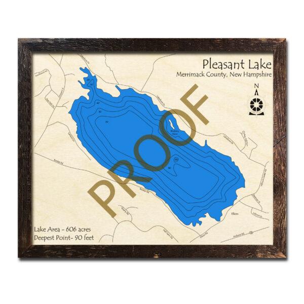 Bow Lake Nh 3d Wood Topo Map