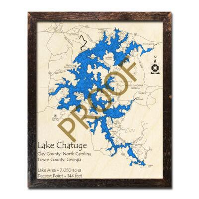 Lake Chatuge 3D Map