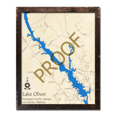 Lake Oliver GA Wood Map