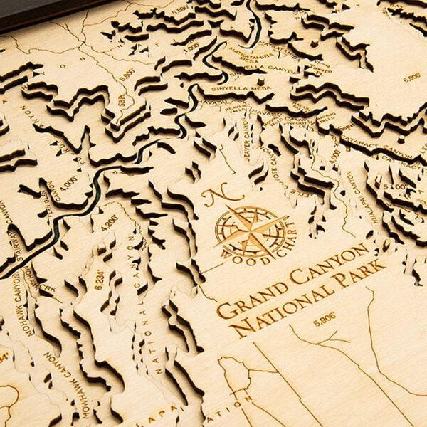 Grand Canyon Wood Map