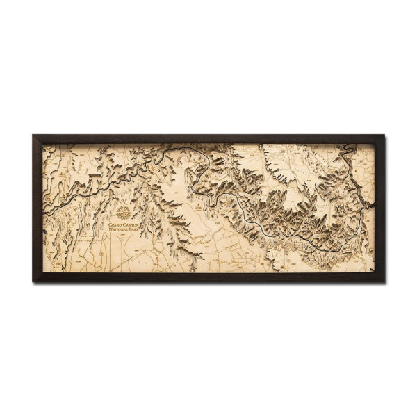 Grand Canyon 3D Wood Map