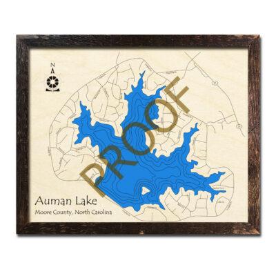 Auman Lake Wood Map