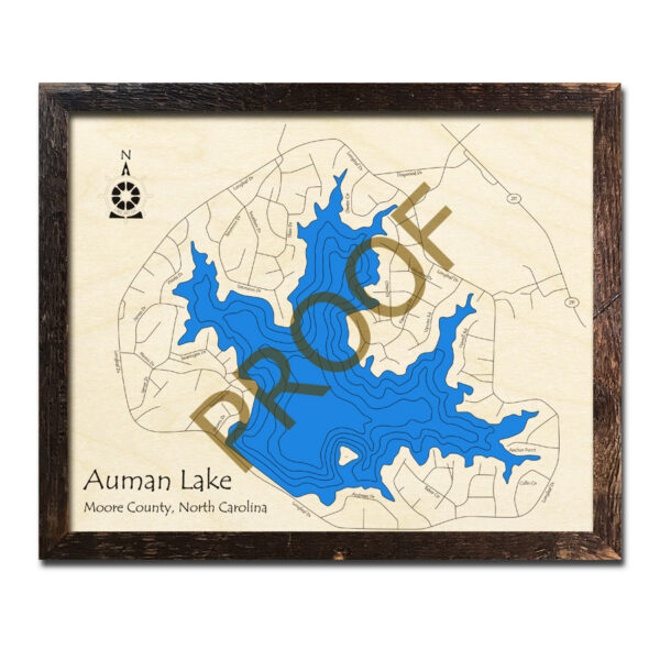 Auman Lake Wood Map