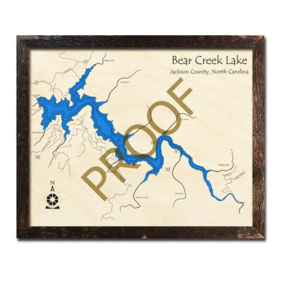 Bear Creek Lake Wood Map