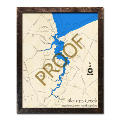 Blounts Creek 3D Map