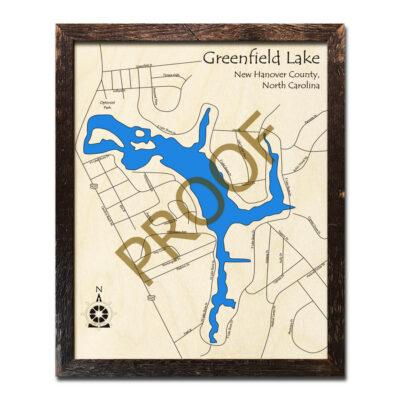 Greenfield Lake Wood Map 3D