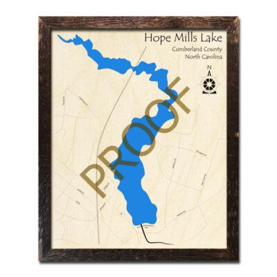 Hope Mills Lake Wood Map 3d