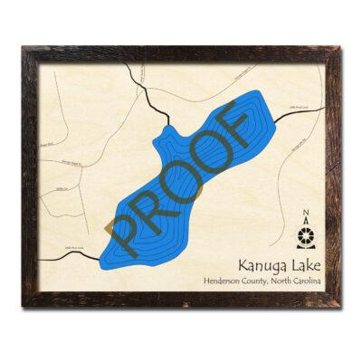 Kanuga Lake Wood Map 3d