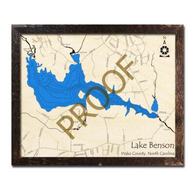 Lake Benson 3D Map