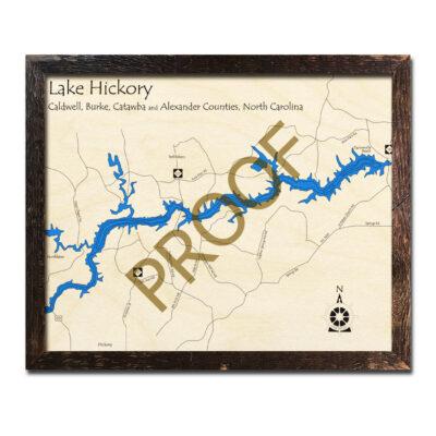 Lake Hickory Wood Map