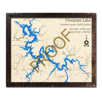 Lake Hiwassee Wood Map