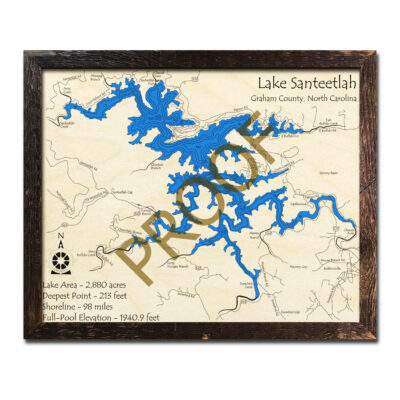 Santeetlah Lake 3d map