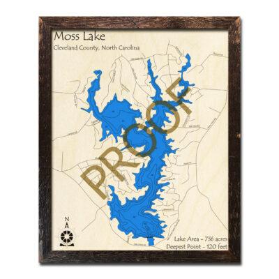 Moss Lake Wood map