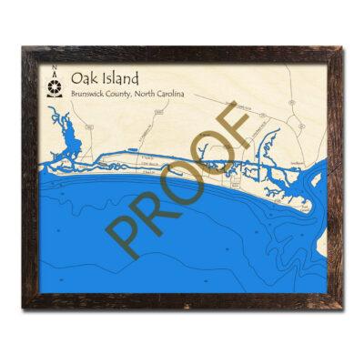Oak Island Wood Map 3d