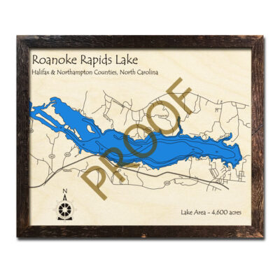 Roanoke Rapids Lake Wood 3d Map