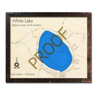 White Lake NC Wood Map