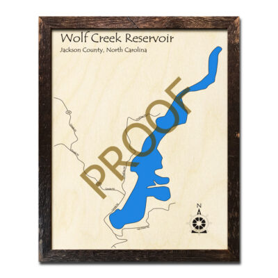Wolf Creek Reservoir wood map