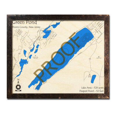 New Jersey Wood Map of Green Pond