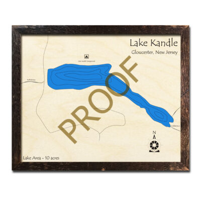 Lake Kandle  New Jersey Wood Map