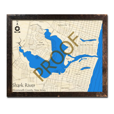 New Jersey Wood Map of Shark River