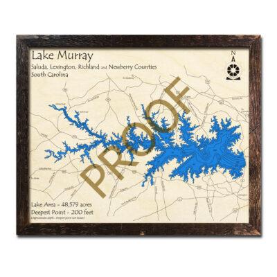 Lake Murray wood map