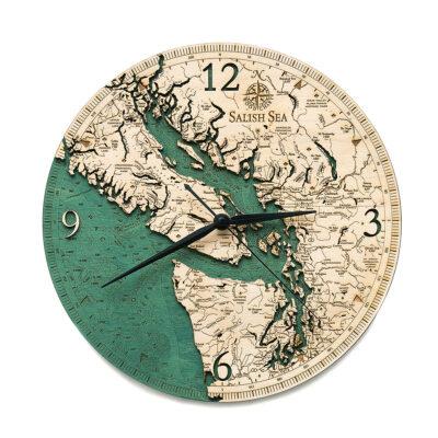Salish Sea Wood Clock