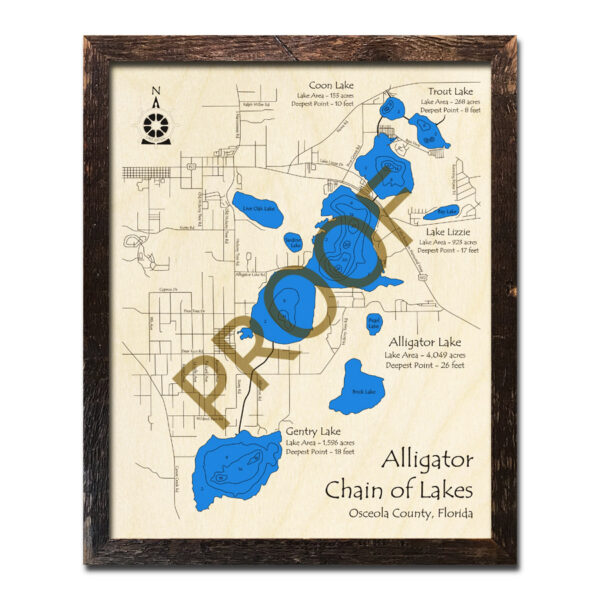 Alligator Chain Wood Map