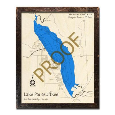 Lake Panasoffkee wood map 3d florida