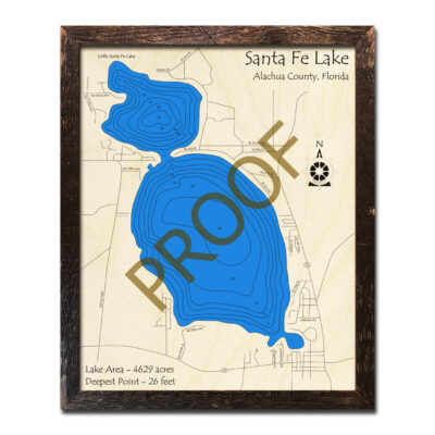 Santa Fe Lake wood map 3d chart in florida