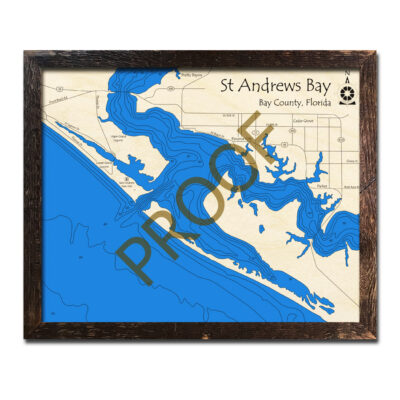 Saint Andrews Bay wood map 3d chart