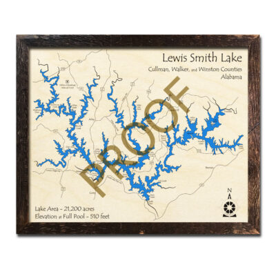 Lewis Smith Lake 3D Wood Map