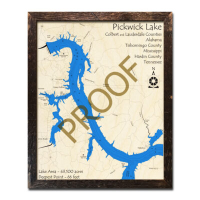 Pickwick 3D Wood Map